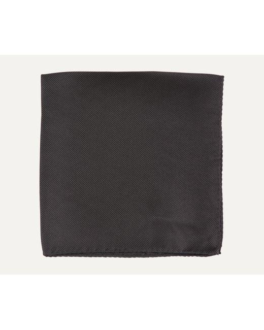 BOSS - Black Fine Stripe Silk Pocket Square for Men - Lyst