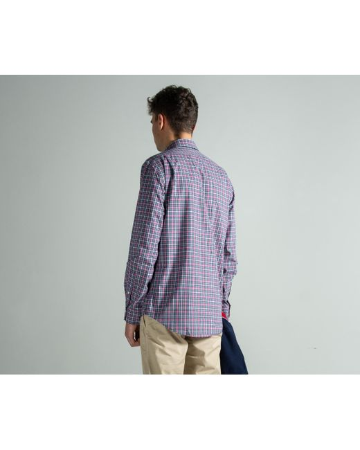 496456737 ... Polo Ralph Lauren - Slim Fit Stretch-cotton Check Shirt Blue red for Men  ...