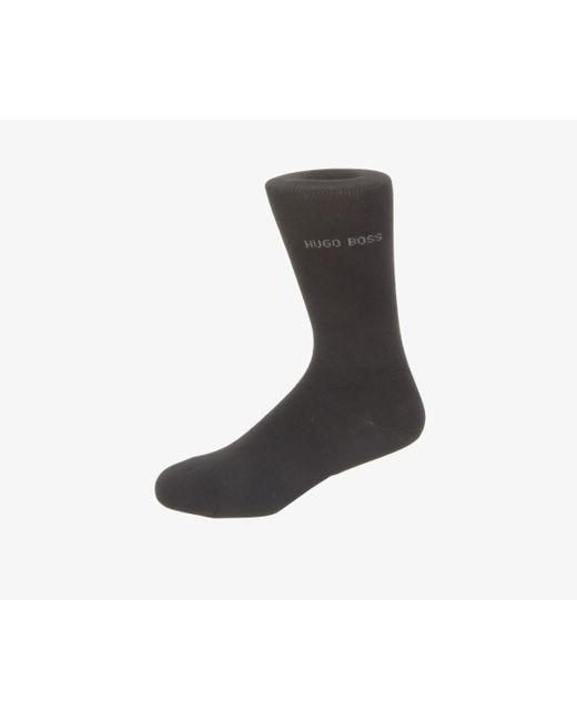 BOSS - One Size Plain Socks Black for Men - Lyst