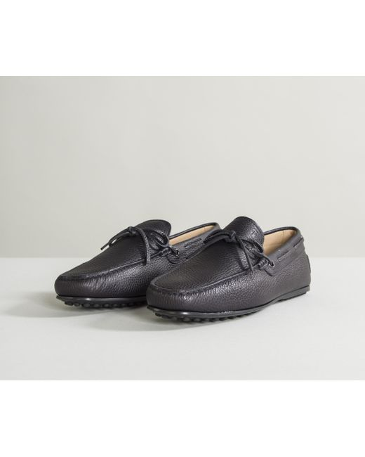 e64588e3a4f ... Lyst Tod s - Blue City Gommino Leather Driving Shoes Dark Navy for Men  ...
