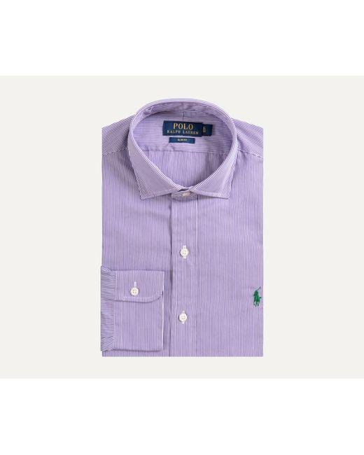 Ralph Lauren City Laukku : Ralph lauren slim fit city striped cotton shirt purple