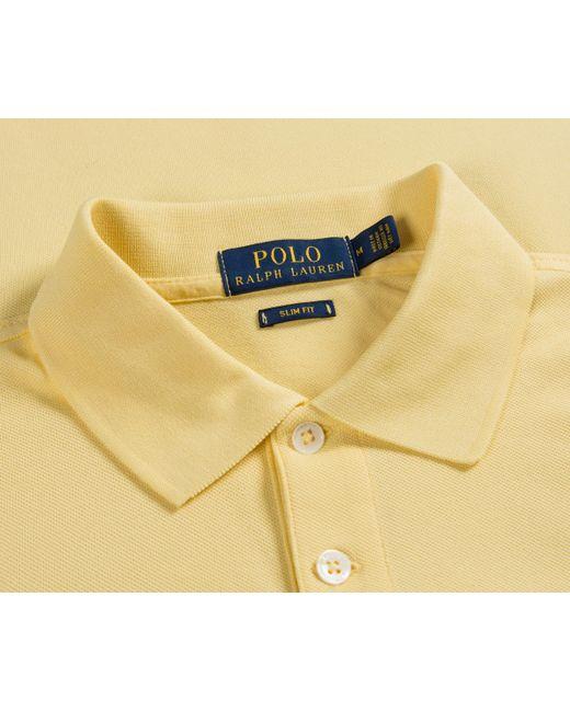 c89e9b963c129 ... Polo Ralph Lauren - Slim Fit Stretch Mesh Polo Banana Yellow for Men -  Lyst ...