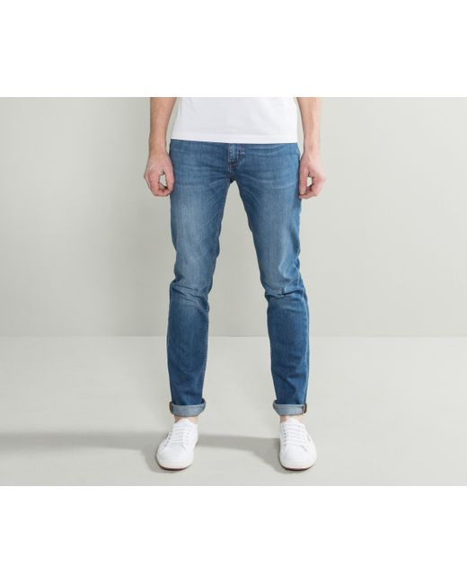 9976f1578 BOSS - 'charleston' Distressed Jean Stone Washed Blue for Men - Lyst ...