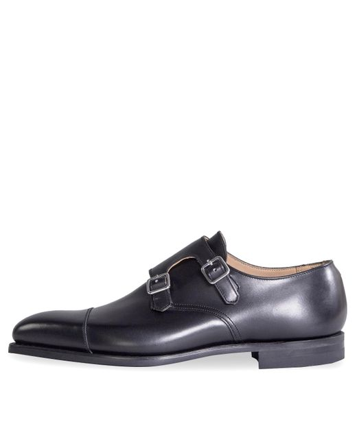 Crockett and Jones 'lowndes' Calf Leather Double Monk Shoes With 'city' Soles Black for men
