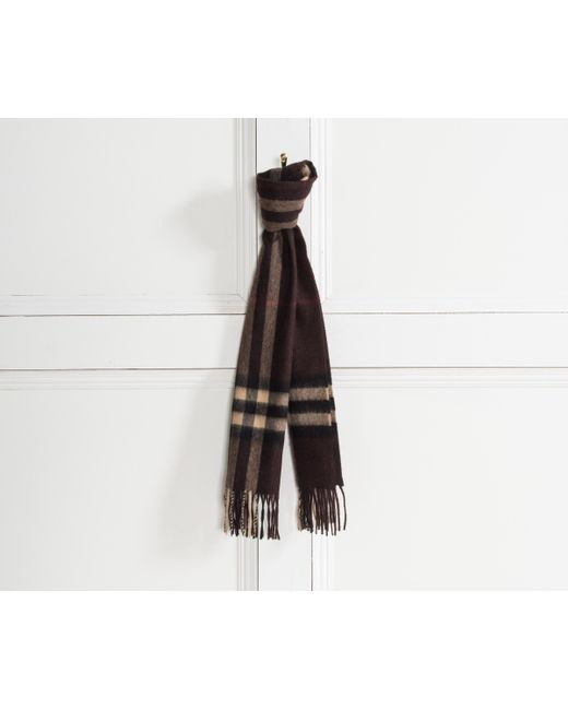Burberry | Brown Giant Icon Check Cashmere Scarf Chestnut | Lyst