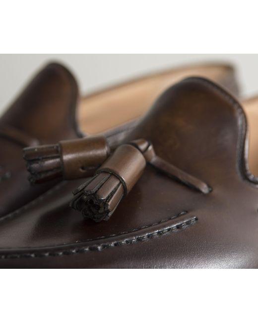 f035d150b41 ... Crockett and Jones -  cavendish  Burnished Calf Leather Loafers Dark  Brown for Men ...