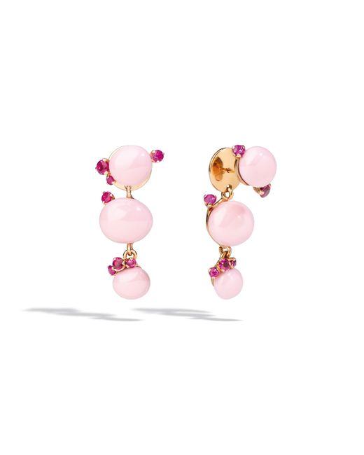 Pomellato | Pink Rose Gold Ruby Earrings | Lyst