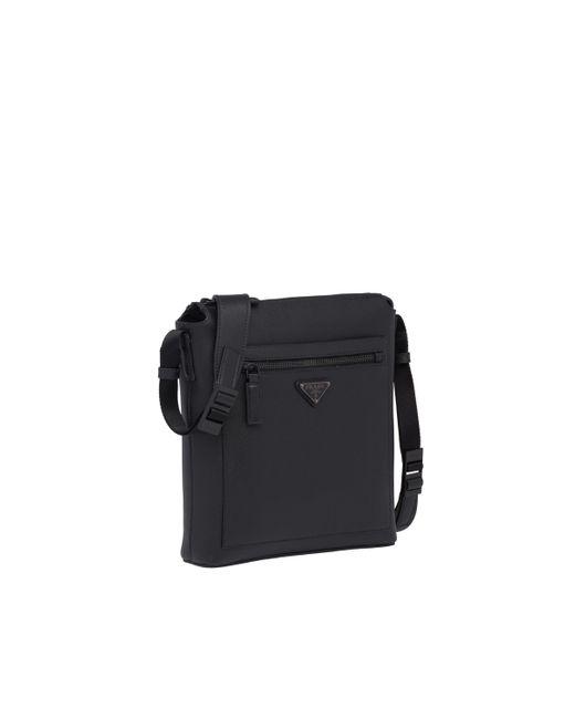 00c75ce2c22c ... Prada - Black Saffiano Leather Shoulder Bag for Men - Lyst ...