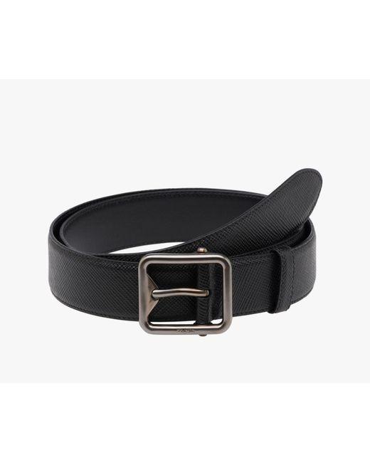 Prada | Black Belt for Men | Lyst