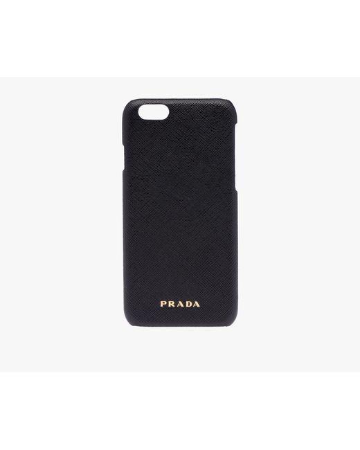 Prada | Black Iphone Cover | Lyst