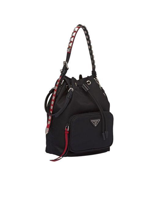 ea2b6ad561c1 Prada Black Nylon Shoulder Bag in Black - Save 10% - Lyst