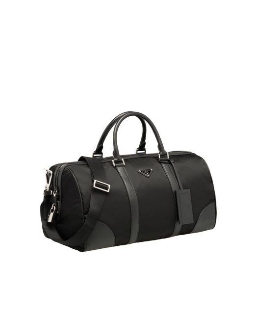 b2b8ddee22f1 ... Prada - Black Nylon Travel Bag for Men - Lyst ...
