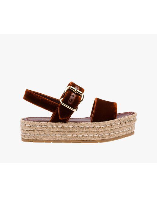Prada | Brown Sandal | Lyst