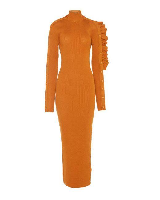 ribbed knit Allegra dress - Yellow & Orange Preen JLLAlnfo