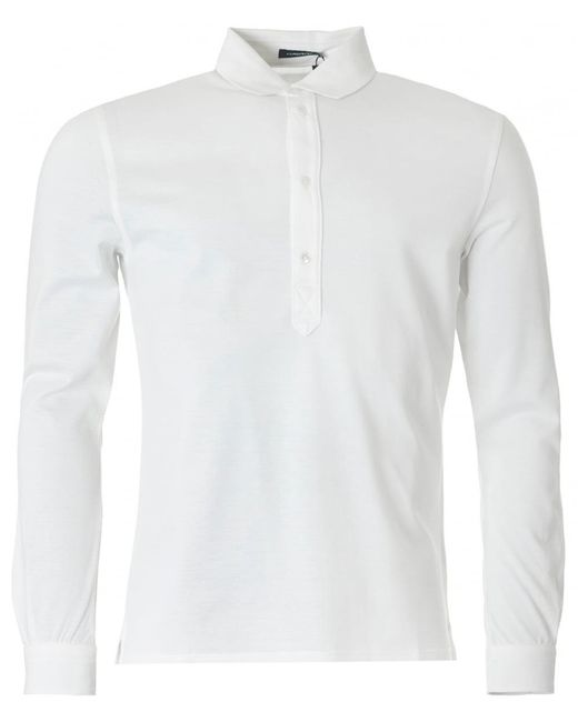 J.Lindeberg | White Cony Long Sleeved Polo Shirt for Men | Lyst