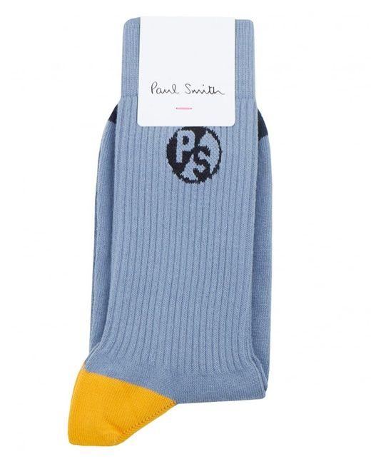Paul Smith | Blue Logo Socks for Men | Lyst
