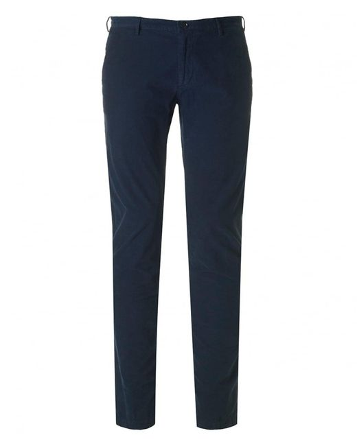 BOSS Black | Blue Rice 3-d Slim Fit Cord Trousers | Lyst