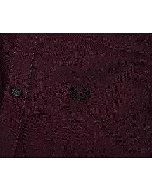 6d8a472856edf7 ... Fred Perry - Purple Deep Mahogany Classic Oxford Shirt for Men - Lyst  ...