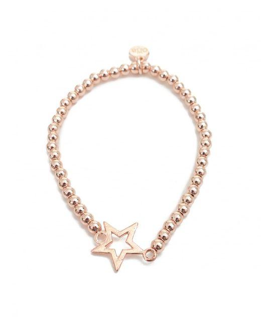 Olia Jewellery - Metallic Aimee Single Star Detail Bracelet - Lyst