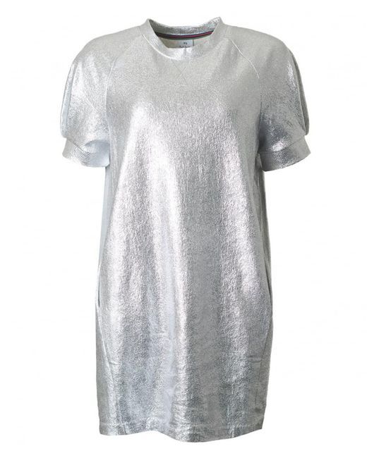 PS by Paul Smith - Metallic Short Sleeved Tunic Dress - Lyst