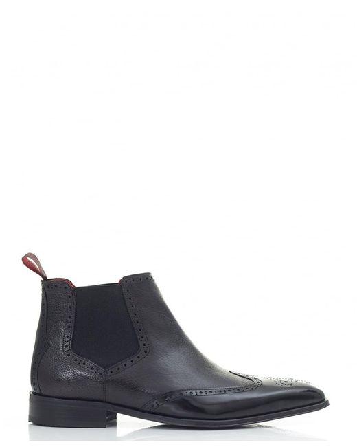 Jeffery West   Black Punch Detail Chelsea Boots for Men   Lyst