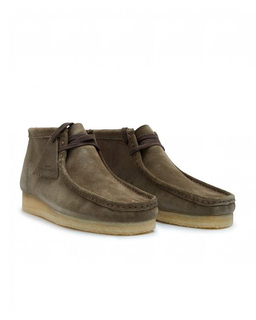 Clarks - Green Wallabee Suede Boots for Men - Lyst