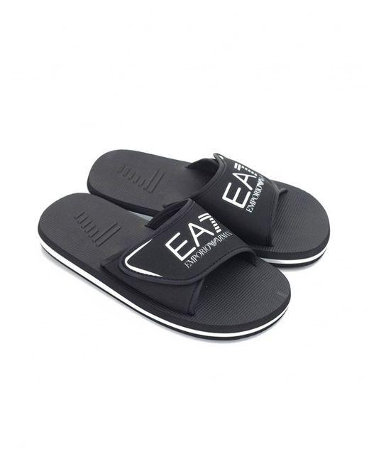 946b41ce9deb ... EA7 - Black Seaworld Sliders for Men - Lyst ...