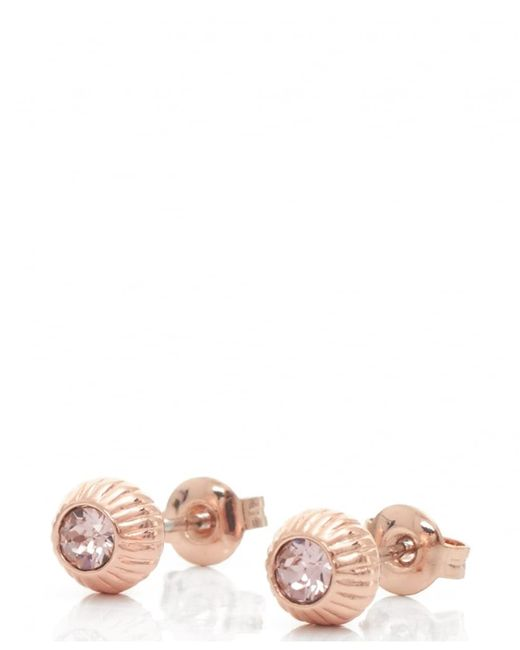 Ted Baker | Multicolor Aubree Plisse Crystal Ball Earrings | Lyst