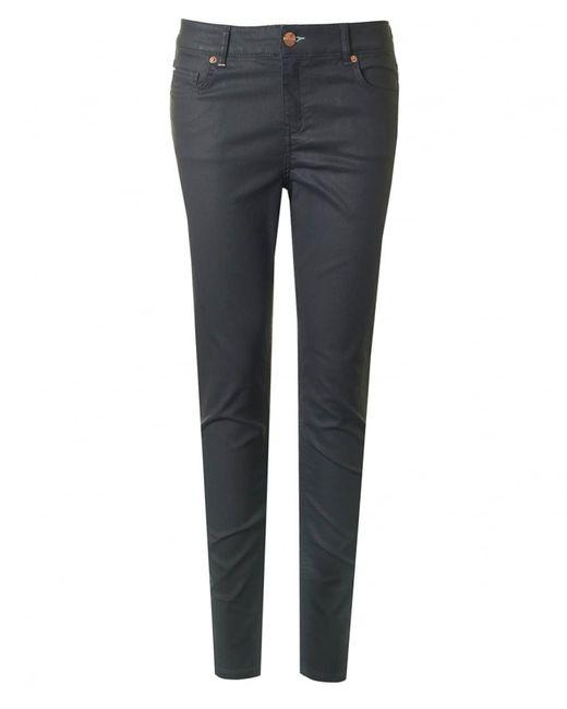Ted Baker - Gray Zip Bottom Jeans - Lyst