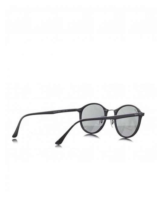 f0a7d59a9 ... Ray-Ban - Black Plastic Round Eye Sunglasses for Men - Lyst