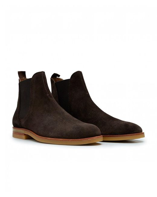 H by Hudson - Brown Adlington Suede Chelsea Boots for Men - Lyst