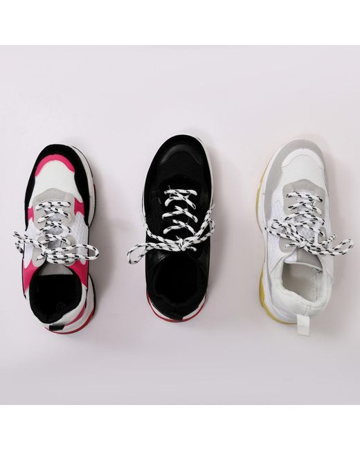 e69d39a4e47 ... Public Desire - Switch Chunky Trainers Pink - Lyst ...