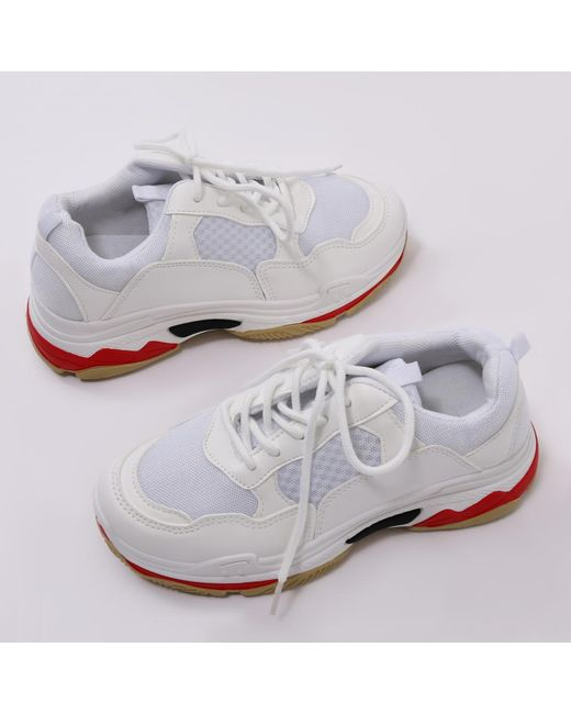 f49fda5b335d Public Desire Revival Chunky Trainers In White in White - Lyst