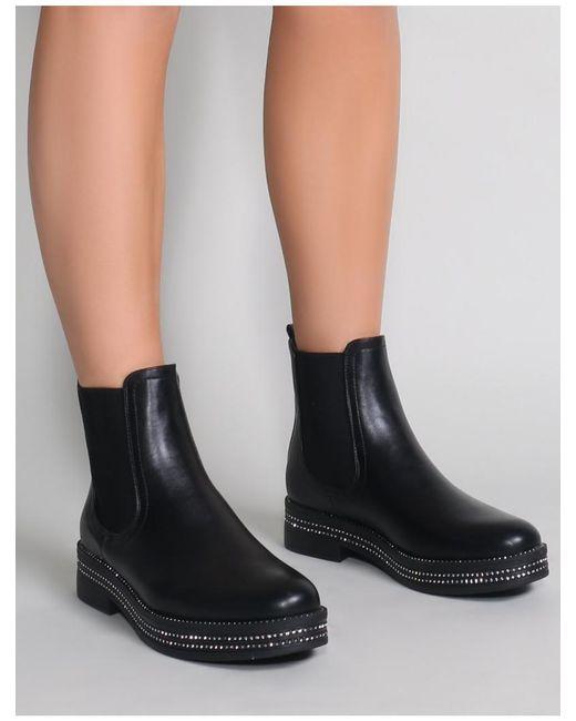 14551e01c ... Public Desire - Glare Chelsea Boots In Black - Lyst ...