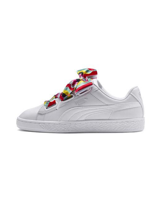 97952159cce PUMA - White Basket Heart Generation Hustle Women s Sneakers - Lyst ...