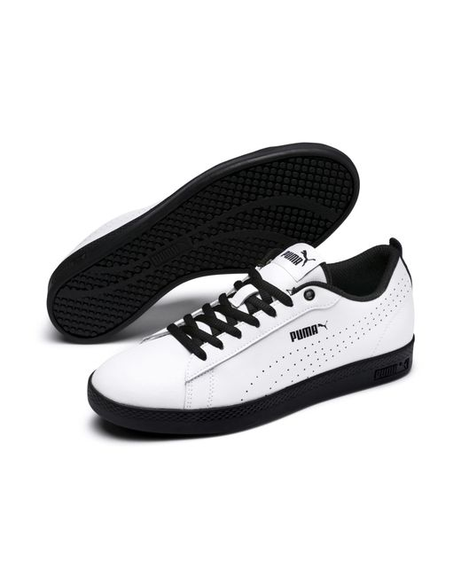 ec536cca797c Lyst - PUMA Smash V2 L Perf Women s Sneakers in Black