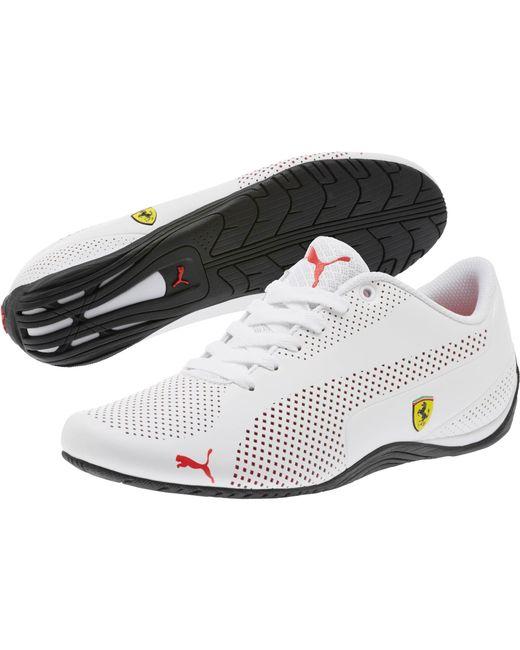 80708c81d72002 ... PUMA - White Scuderia Ferrari Drift Cat 5 Ultra Sneakers for Men - Lyst  ...