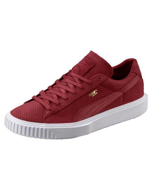 PUMA - Red Suede Breaker Sneakers for Men - Lyst