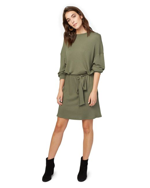 Rachel Pally | Green Pique Slouchy Belted Dress- Olive | Lyst