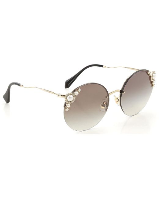 Miu Miu Metallic Sunglasses On Sale
