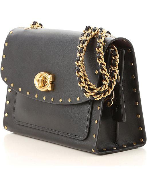 Lyst - COACH Shoulder Bag For Women in Black - Save 4.656862745098039% fee1f9ce8dba2