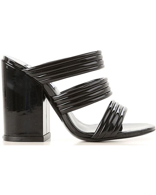 8f83a5bb ... KENZO - Black Sandals For Women - Lyst ...