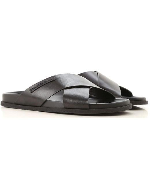 Dolce & Gabbana - Black Sandalen für Herren Günstig im Sale for Men - Lyst