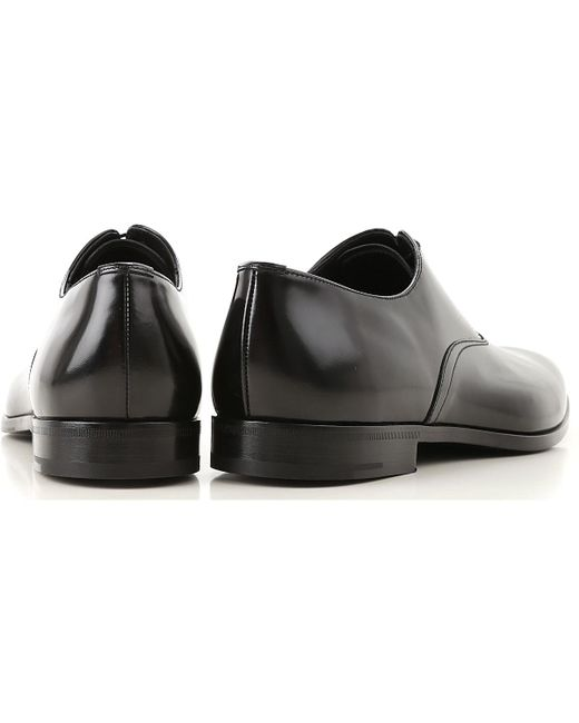 b82d2c8553d9 ... Prada - Black Lace Up Shoes For Men Oxfords for Men - Lyst ...