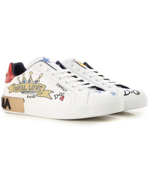 Dolce & Gabbana - White Sneakers For Men for Men - Lyst