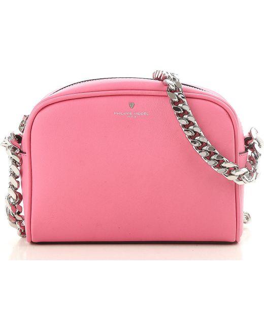 Philippe Model - Pink Shoulder Bag For Women On Sale - Lyst