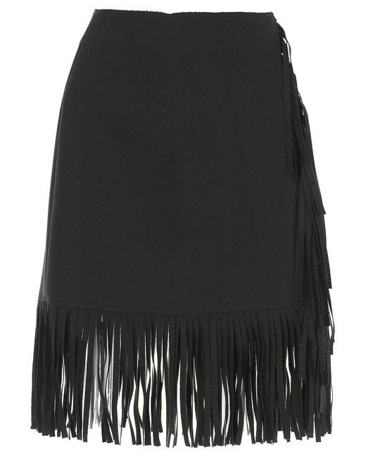 MSGM - Black Skirt For Women On Sale - Lyst
