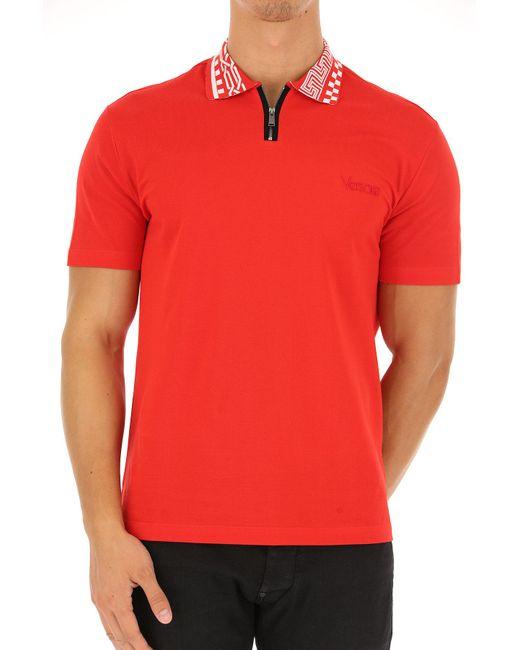 Lyst - Polo Homme Pas cher en Soldes Versace pour homme en coloris Rouge 016a389c44f