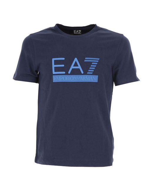 Emporio Armani - Blue T-shirt For Men On Sale for Men - Lyst