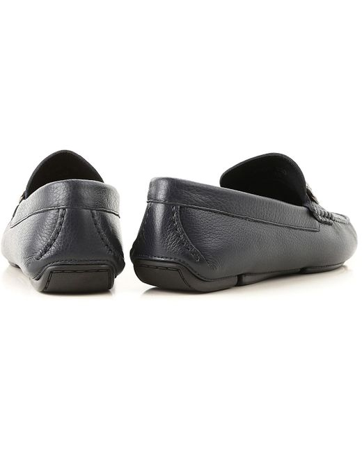 9059e6d318 ... Versace - Blue Loafers For Men On Sale for Men - Lyst ...